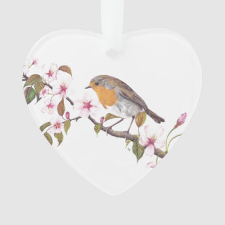 Robin in Blossom Hanging decoration