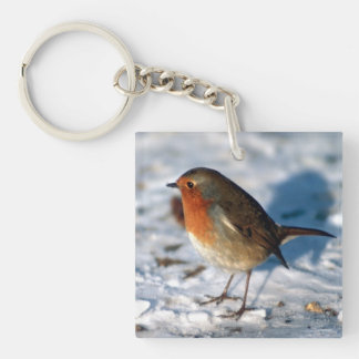 Robin In The Snow Key Ring