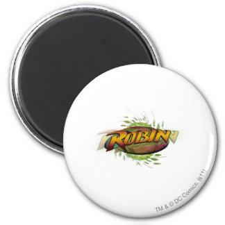 Robin Logo 6 Cm Round Magnet
