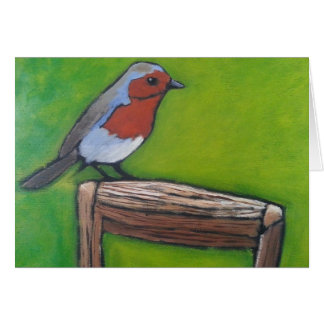 Robin on a Spade Handle Greeting Card