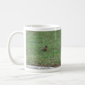 Robin on Lawn Coffee Mug