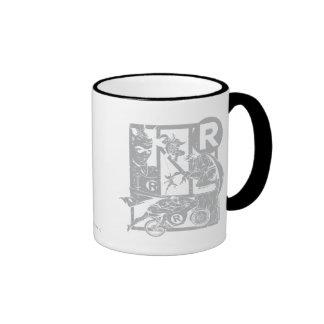 Robin - Picto Grey Ringer Coffee Mug