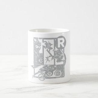 Robin - Picto Grey Coffee Mugs