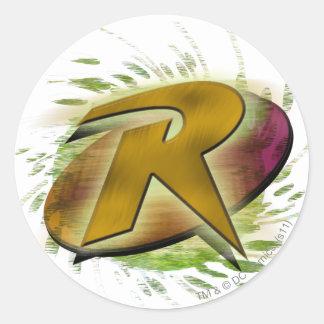 Robin -R Round Sticker