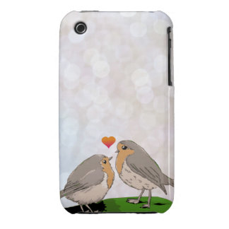 Robin red breast bird love iPhone 3 cases