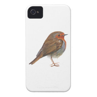 Robin Red Breast Bird Watercolor Painting Artwork iPhone 4 Case