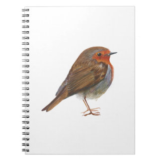 Robin Red Breast Bird Watercolor Painting Artwork Notebook
