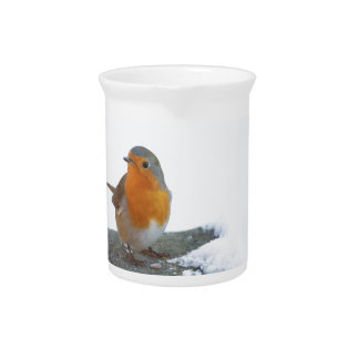 Robin Red Breast Pitcher
