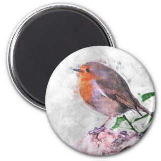 Robin Redbreast 6 Cm Round Magnet