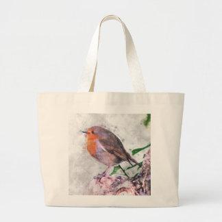 Robin Redbreast Jumbo Tote Bag