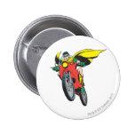 Robin Rides 2 Pinback Button