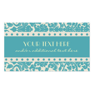 Robin s Egg Blue Damask Business Cards