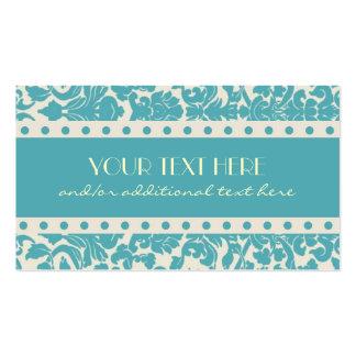 Robin s Egg Blue Damask Business Cards