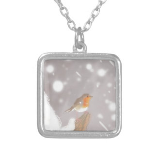 Robin Silver Plated Necklace