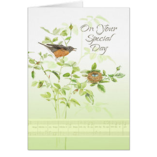 Robin Song Birthday Cards