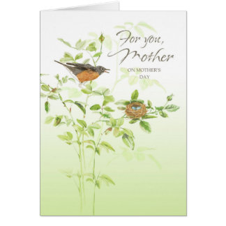 Robin Song Mother's Day Greeting Card