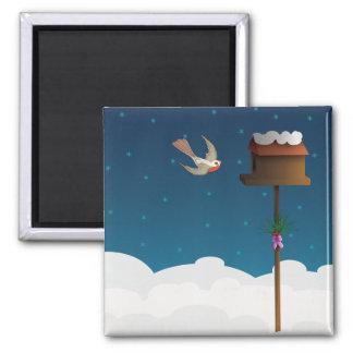 Robin, square magnet