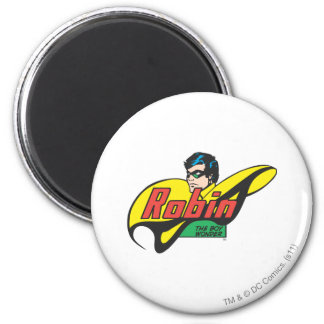 Robin The Boy Wonder 6 Cm Round Magnet