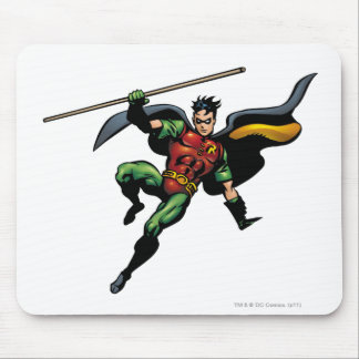 Robin with Staff Mouse Pad