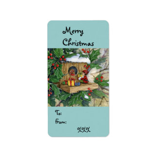 """Robin's Christmas"" Tag-label Label"