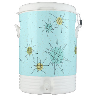 Robin's Egg Blue Atomic Starbursts Beverage Cooler