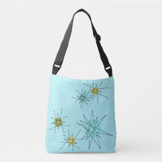 Robin's Egg Blue Atomic Starbursts Cross Body Bag