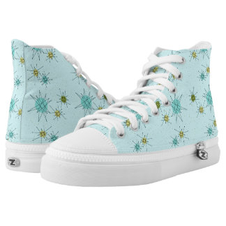 Robin's Egg Blue Atomic Starbursts High Tops