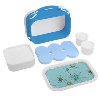 Robin's Egg Blue Atomic Starbursts Lunch Box