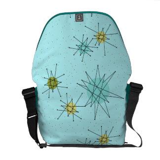 Robin's Egg Blue Atomic Starbursts Messenger Bag