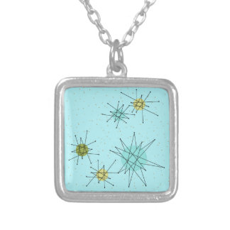 Robin's Egg Blue Atomic Starbursts  Necklace