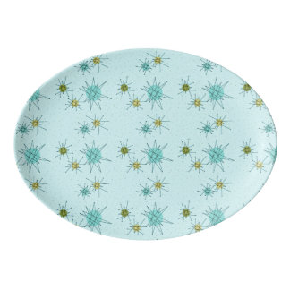 Robin's Egg Blue Atomic Starbursts Platter