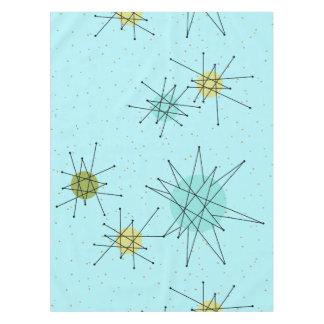 Robin's Egg Blue Atomic Starbursts Tablecloth