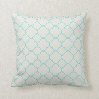 Robin's Egg Blue Ironstone White Throw Pillow