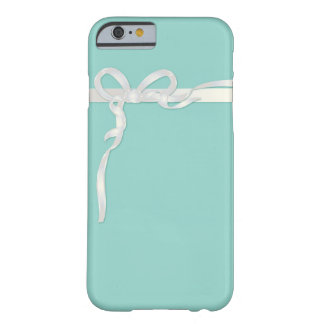 Robin's Egg Blue Jewelry Box with White Ribbon Barely There iPhone 6 Case