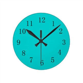 Robins Egg Blue Kitchen Wall Clock