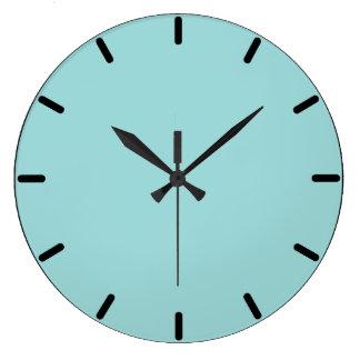 Robin's Egg Blue Round Wall Clock