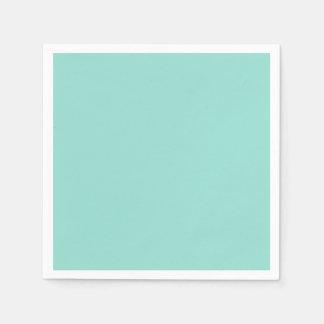 Robin's Egg Blue Solid Color Disposable Napkins