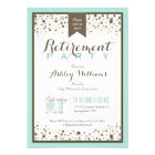 Robins Egg Blue, Taupe Modern Retirement Party Card