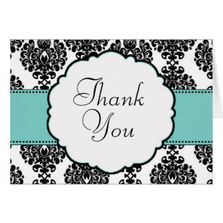 Robin's Egg Blue Wedding Thank you card