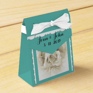 Robin's Egg Blue White Rose For Box