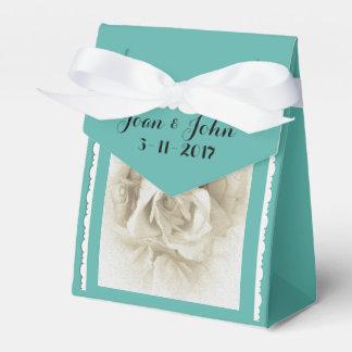 Robin's Egg Blue White Rose For Box Favour Box