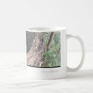 Robins Eggs in Nest Basic White Mug
