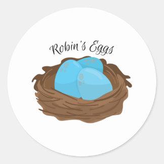 Robins Eggs Round Sticker