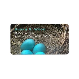 Robin's Nest Custom Address Labels