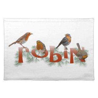 Robins Placemat (choose colour)