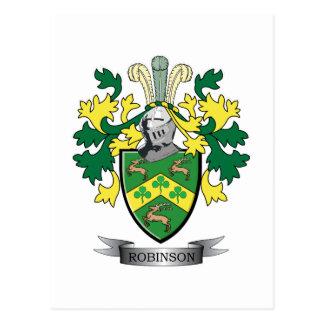 Robinson Coat of Arms Postcard