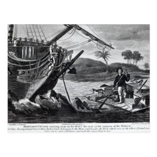 Robinson Crusoe carrying away Postcard