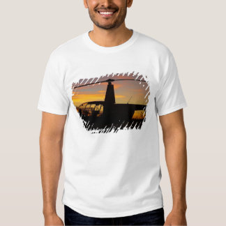 Robinson R44 helicopter at sunset Tshirt