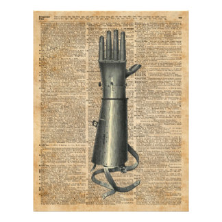 Robo Hand,Artifical Arm Dictionary Art 21.5 Cm X 28 Cm Flyer