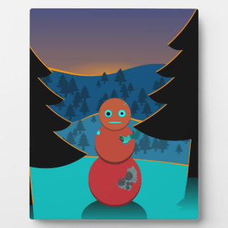Robo' snowman plaque